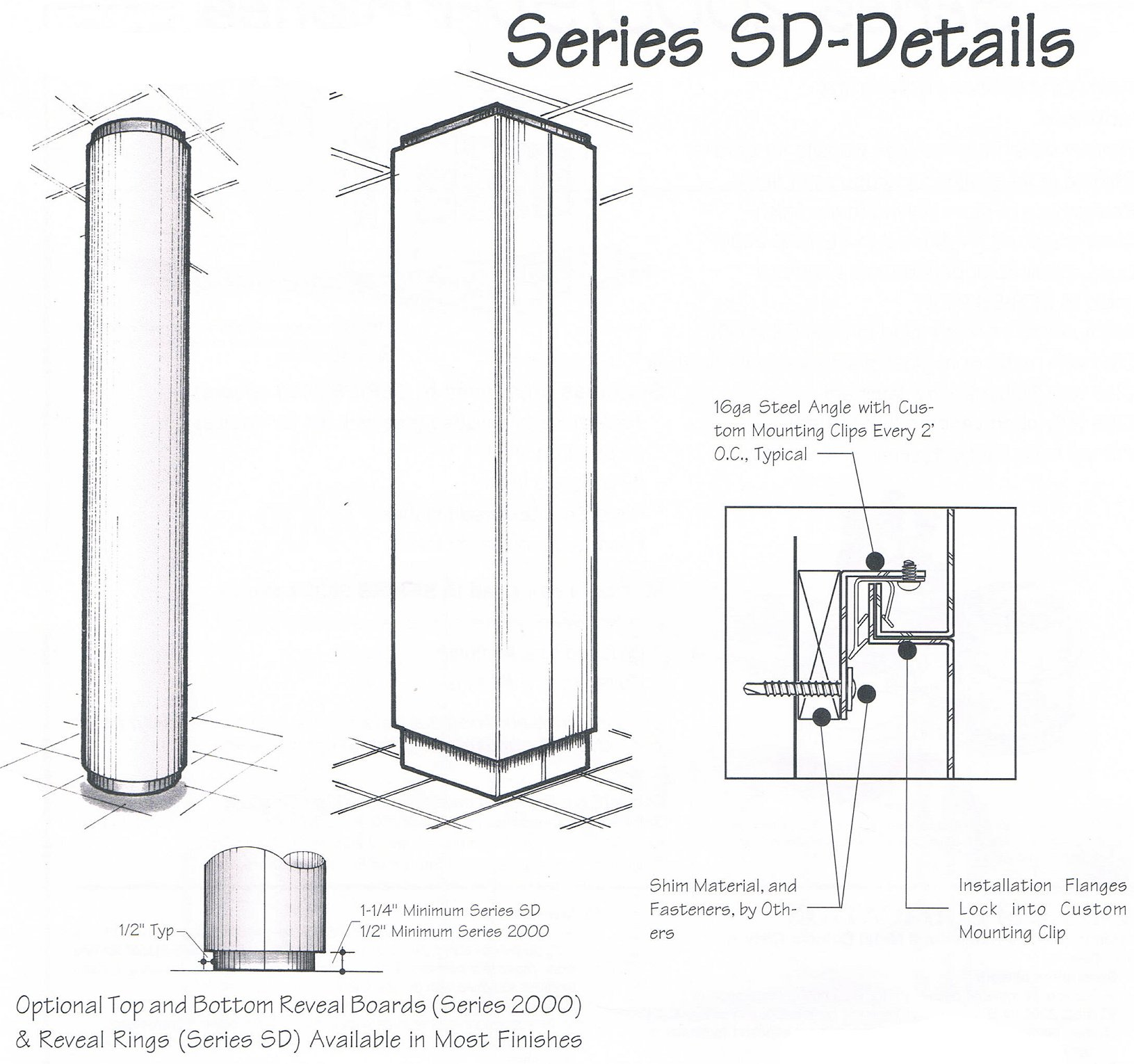 series sd small diameter column covers. Black Bedroom Furniture Sets. Home Design Ideas
